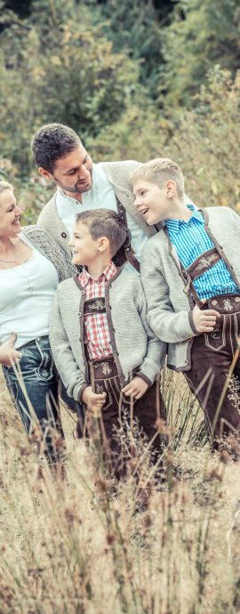 Familienfotos in Tracht
