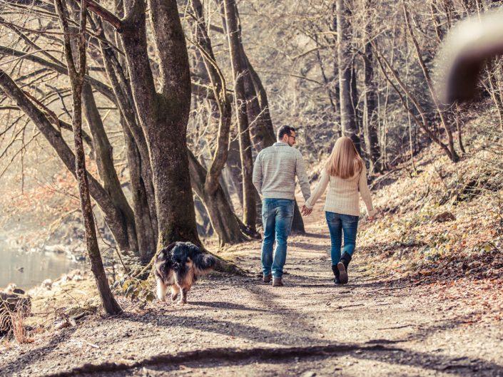 Paarfotos im Wald